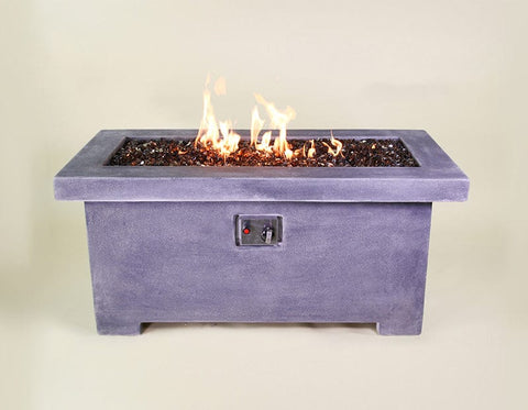 Fuoco Rectangular Fire Table with Propane Burner & Electronic Ignition