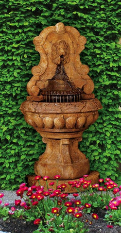 Europa Murabella Lion Wall Outdoor Fountain - Outdoor Art Pros