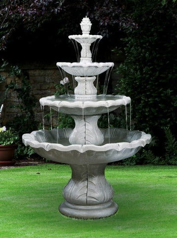 4-Tier Classical Finial Fountain - Outdoor Art Pros