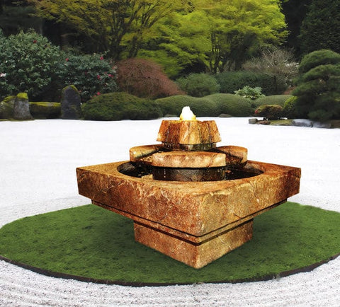 Stone Edge Cascade Garden Fountain - Outdoor Art Pros