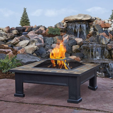 Breckenridge Outdoor Fireplace Wood Burning Fire Pit - Lifestyle Images