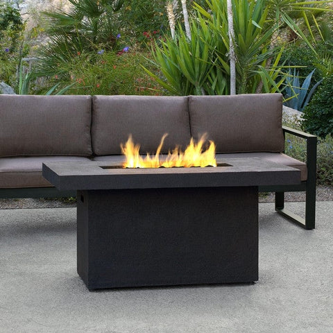 Real Ventura Rectangle Fire Table - Kodiak Brown Lifestyle Image