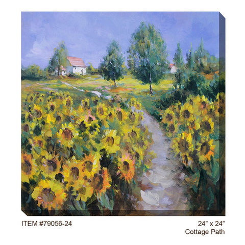 Cottage Path Outdoor Canvas Art - Outdoor Art Pros