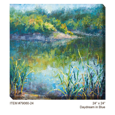 Daydream in Blue Outdoor Canvas Art - Outdoor Art Pros
