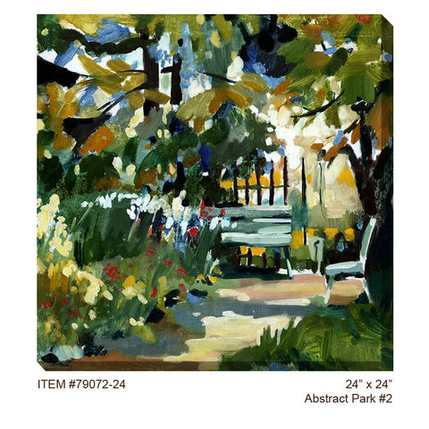 Abstract Park #2 Outdoor Canvas Art - Outdoor Art Pros