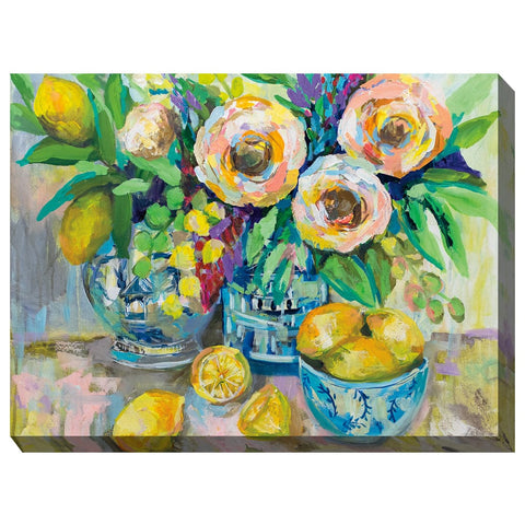 Afternoon Lemonade Outdoor Canvas Art - Outdoor Art Pros
