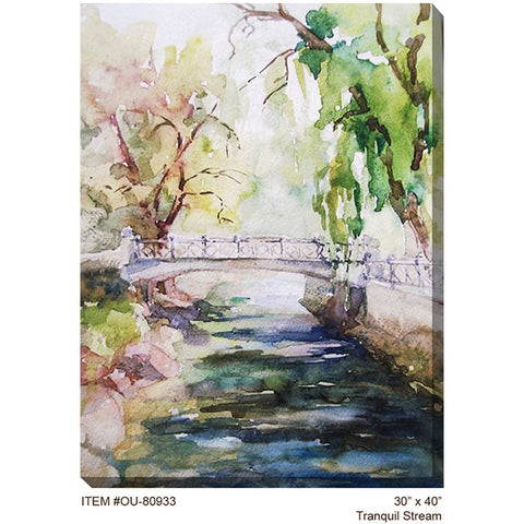 Tranquil Stream Outdoor Canvas Art - Outdoor Art Pros