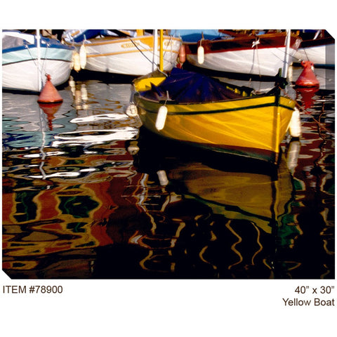 Yellow Boat Outdoor Canvas Art - Outdoor Art Pros