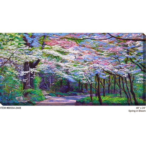 Spring In Bloom Outdoor Canvas Art - Outdoor Art Pros