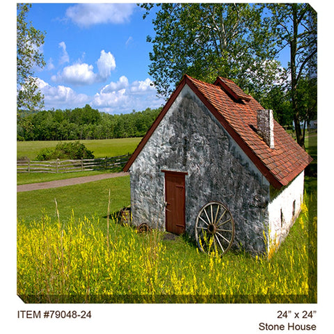 Stone House Outdoor Canvas Art - Outdoor Art Pros