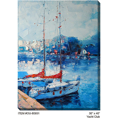 Yacht Outdoor Canvas Art - Outdoor Art Pros