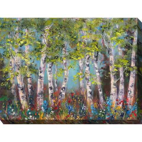 Wildflower Grove Outdoor Canvas Art - Outdoor Art Pros
