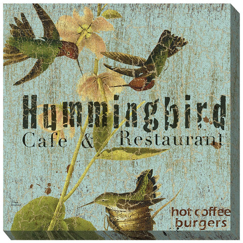 Hummer Cafe Outdoor Canvas Art - Outdoor Art Pros