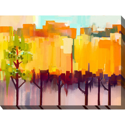 Urban Refuge Outdoor Canvas Art - Outdoor Art Pros