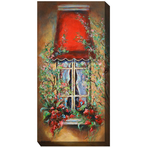 Red Canopy Outdoor Canvas Art - Outdoor Art Pros