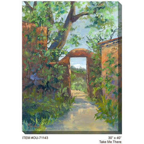 Take Me There Outdoor Canvas Art - Outdoor Art Pros