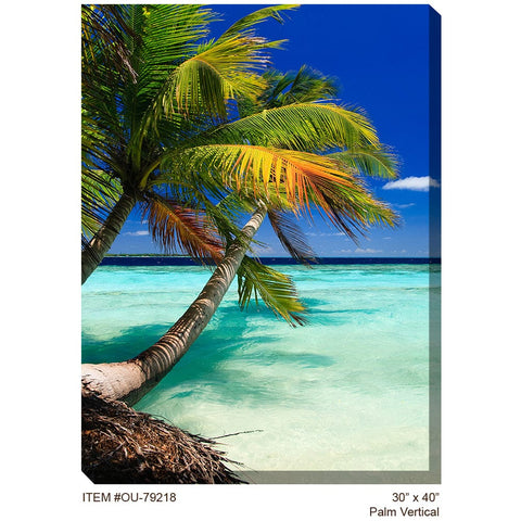 Palm Vertical Outdoor Canvas Art - Outdoor Art Pros