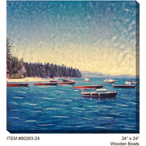 Wooden Boats Outdoor Canvas Art - Outdoor Art Pros