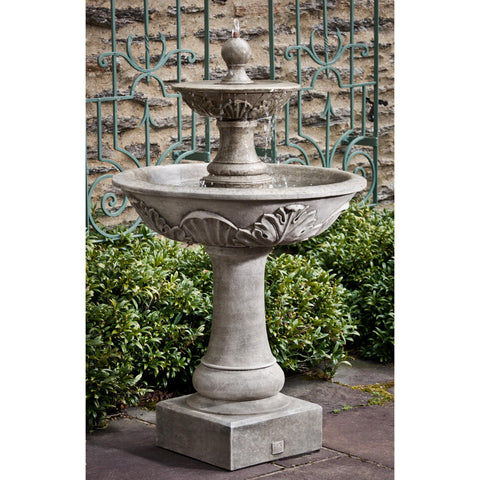 Acanthus Two Tiered Garden Water Fountain