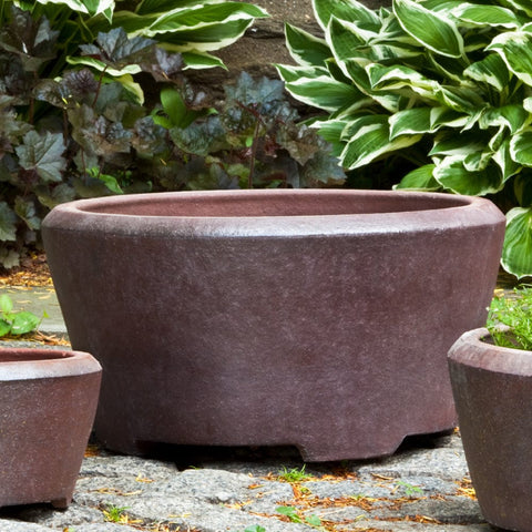 Alma Planter Set of 3 in Asian Earthenware - Outdoor Art Pros