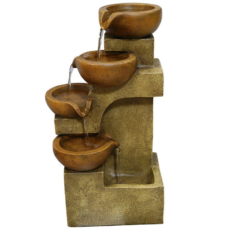 Tiering Pots Tabletop Fountain - Outdoor Art Pros