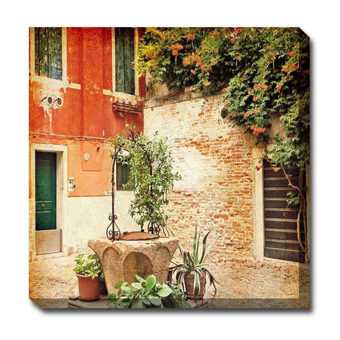 Ancient Well Outdoor Canvas Art - Outdoor Art Pros