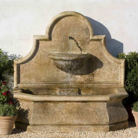 Andalusia Wall Outdoor Water Fountain - Outdoor Art Pros