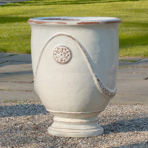 Anduze Urn Set of 4 in Antique White - Outdoor Art Pros