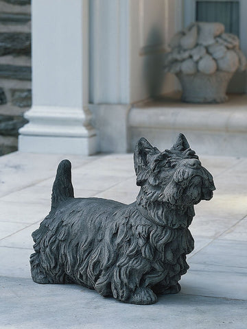 Angus Scotty Dog Cast Stone Garden Statue - Outdoor Art Pros