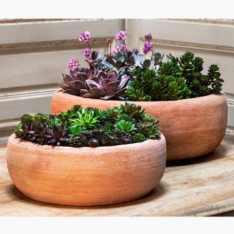Annalise Planter Set of 2 in Terra Cotta - Outdoor Art Pros