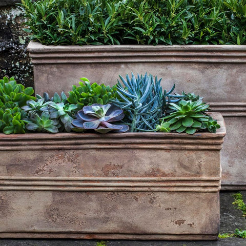 Antico Rectangular Planter Set of 2 - Outdoor Art Pros