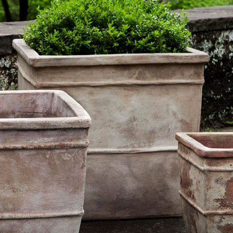 Antico Square Planter Set of 3 - Outdoor Art Pros