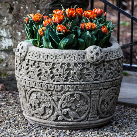 Antique Celtic Garden Planter - Outdoor Art Pros