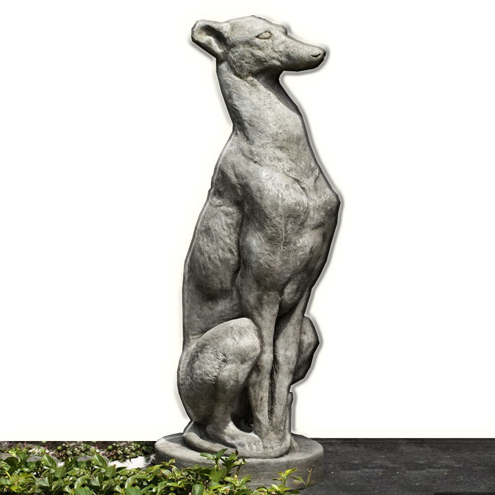 Attrayant ... Antique Greyhound Cast Stone Garden Statue   Outdoor Art Pros ...