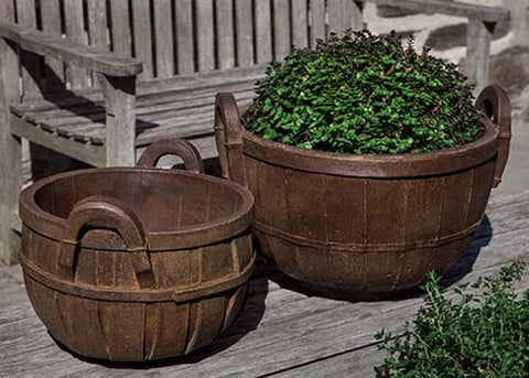 Apple Basket Garden Planter - Outdoor Art Pros
