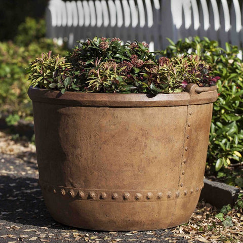 Apple Butter Kettle Garden Planter - Planters - Outdoor Art Pros