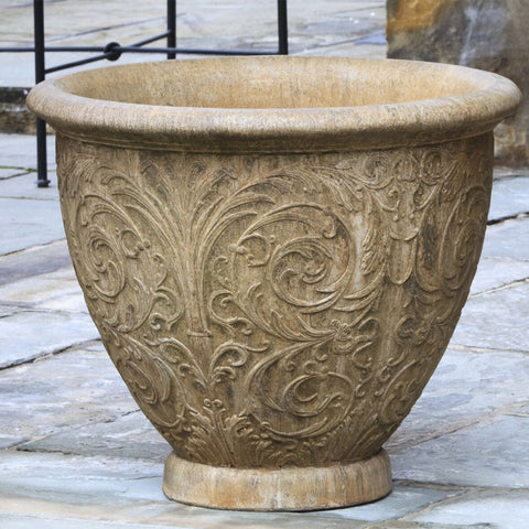 Arabesque Medium Garden Planter - Set of 2 - Outdoor Art Pros