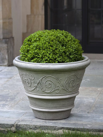 Arabesque Rolled Rim Garden Planter