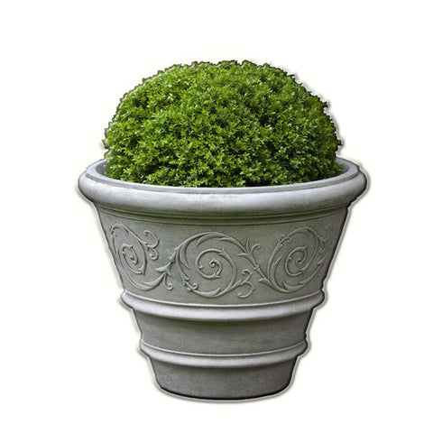 Arabesque Rolled Rim Garden Planter - Planter - Outdoor Art Pros