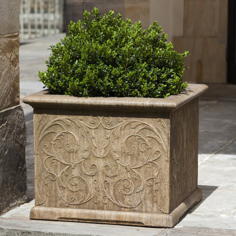 Arabesque Square Garden Planter - Outdoor Art Pros