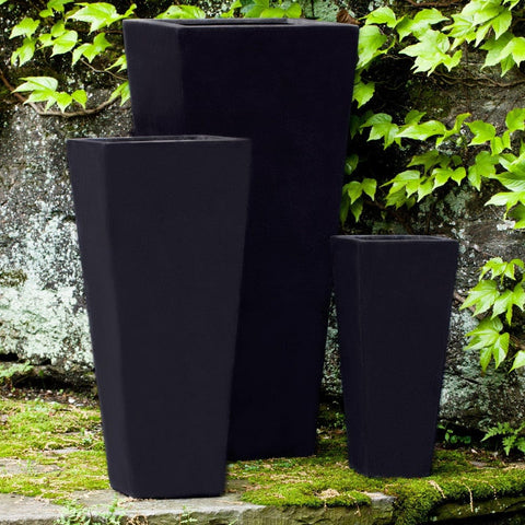 Ario Onyx Black Lite Planter Set of 3 - Outdoor Art Pros