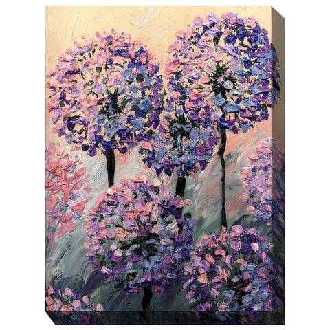 Artistic Allium Outdoor Canvas Art - Outdoor Art Pros