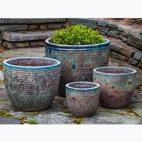 Aspara Planter Set of 4 in Angkor Green Mist - Outdoor Art Pros