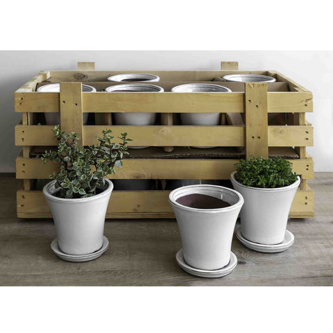 Audrey Planter Crate Set of 16 in Linen White - Outdoor Art Pros