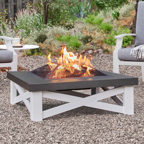 Austin Wood-Burning Fire Table - Outdoor Art Pros