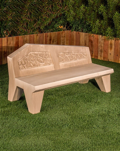 Avalon Modern Stone Bench - Outdoor Art Pros