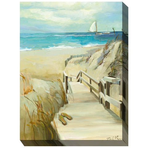 Barefoot Beach Outdoor Canvas Art