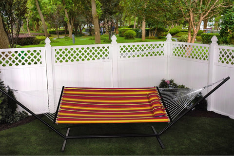 "Bliss 55"" Wide Oversized Hammock with Spreader Bars & Pillow (Sunset)- Outdoor Art Pros"