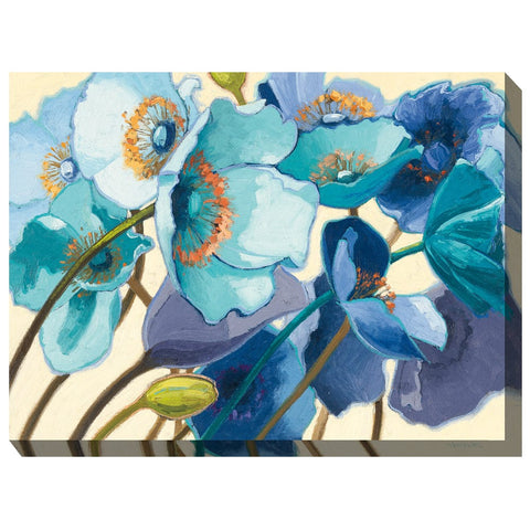 Breezy Blues Outdoor Canvas Art - Outdoor Art Pros