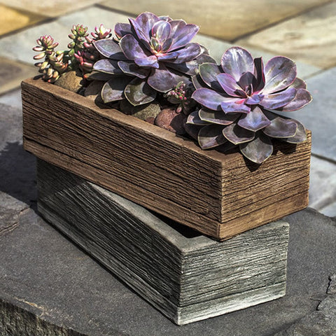 "Barn Board Garden Planter 14"" - Planters - Outdoor Art Pros"